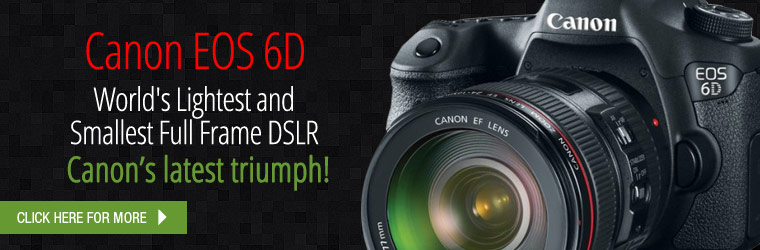 Canon EOS 6D - World's Lightest and Smallest Full Frame DSLR