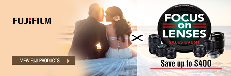 FujiFilm focus on lenses sales event
