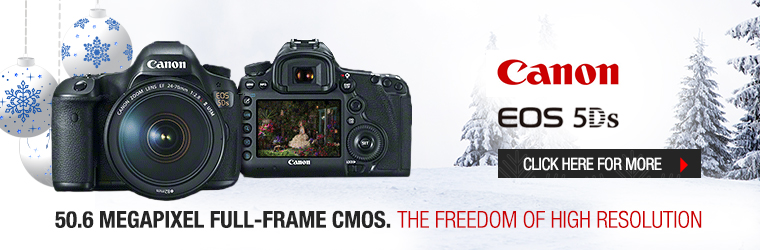 Canon 5DS with lens � 50.6 Megapixel full-frame CMOS. The Freedom of High Resolution